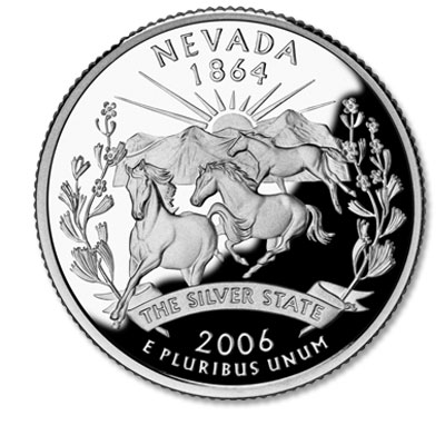 Image for 2006-S Nevada Statehood Quarter, Choice Proof, PR63 from Littleton Coin Company