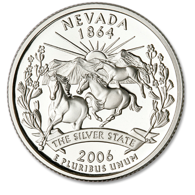 Image for 2006-S 90% Silver Nevada Statehood Quarter, Choice Proof, PR63 from Littleton Coin Company