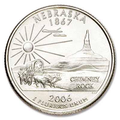 Image for 2006-P Nebraska Statehood Quarter from Littleton Coin Company