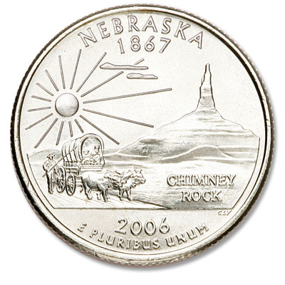 Image for 2006-D Nebraska Statehood Quarter, Uncirculated, MS60 from Littleton Coin Company