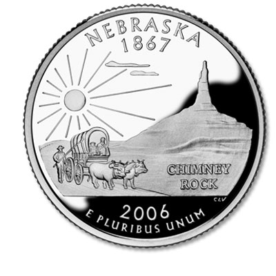 Image for 2006-S Nebraska Statehood Quarter from Littleton Coin Company