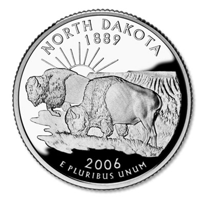 Image for 2006-S North Dakota Statehood Quarter, Choice Proof, PR63 from Littleton Coin Company