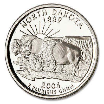 Image for 2006-S 90% Silver North Dakota Statehood Quarter, Choice Proof, PR63 from Littleton Coin Company