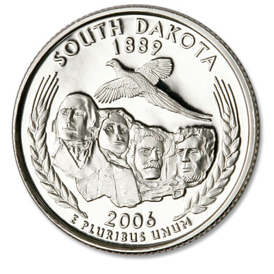 Image for 2006-S 90% Silver South Dakota Statehood Quarter from Littleton Coin Company