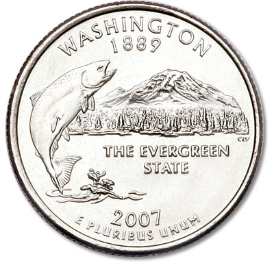 Image for 2007-P Washington Statehood Quarter from Littleton Coin Company
