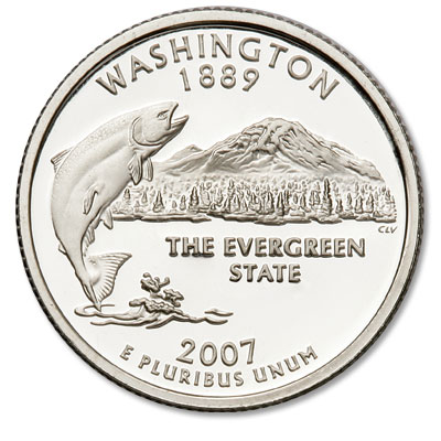 Image for 2007-S 90% Silver Washington Statehood Quarter, Choice Proof, PR63 from Littleton Coin Company