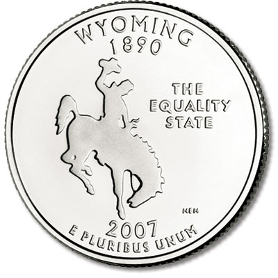 Image for 2007-P Wyoming State Quarter, Uncirculated-60 from Littleton Coin Company