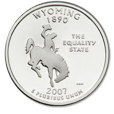 Image for 2007-S Wyoming Statehood Quarter, Choice Proof, PR63 from Littleton Coin Company