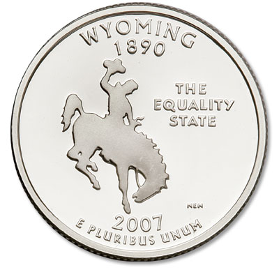 Image for 2007-S 90% Silver Wyoming Statehood Quarter from Littleton Coin Company