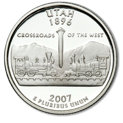 Image for 2007-S Utah Statehood Quarter from Littleton Coin Company