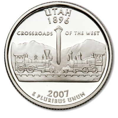 Image for 2007-S 90% Silver Utah Statehood Quarter from Littleton Coin Company