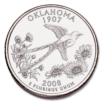 Image for 2008-P Oklahoma Statehood Quarter from Littleton Coin Company