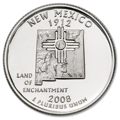 Image for 2008-S New Mexico Statehood Quarter, Choice Proof, PR63 from Littleton Coin Company