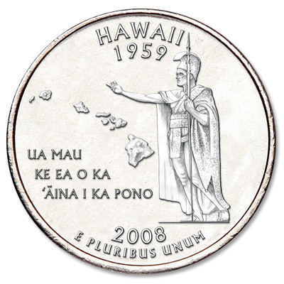 Image for 2008-P Hawaii Statehood Quarter from Littleton Coin Company