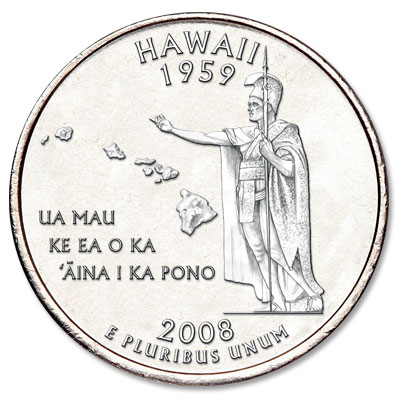 Image for 2008-D Hawaii Statehood Quarter, Uncirculated, MS60 from Littleton Coin Company