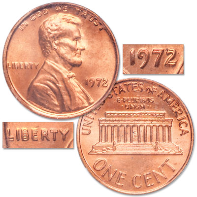 Image for 1972/72 Lincoln Head Cent from Littleton Coin Company
