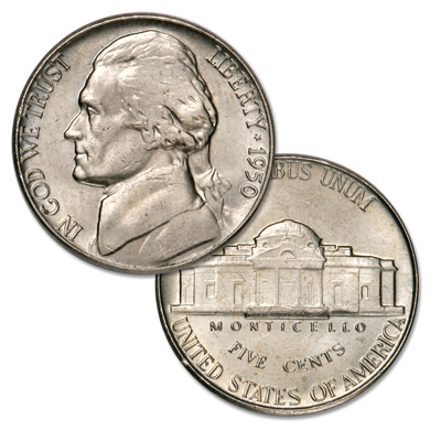 Image for 1950 Jefferson Nickel from Littleton Coin Company