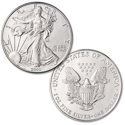 Image for 2000 $1 Silver American Eagle, Uncirculated from Littleton Coin Company