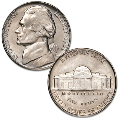 Image for 1951 Jefferson Nickel from Littleton Coin Company