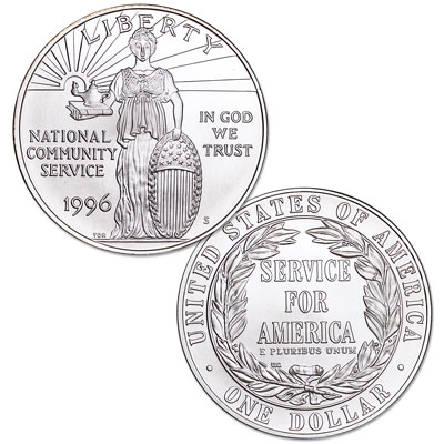 Image for 1996-S Community Service Silver Dollar from Littleton Coin Company