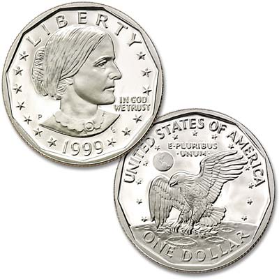 Image for 1999-P Susan B Anthony Dollar from Littleton Coin Company