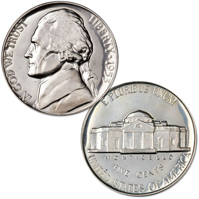 Image for 1953 Jefferson Nickel from Littleton Coin Company