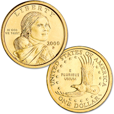 Image for 2000-P Sacagawea Dollar, Uncirculated-60 from Littleton Coin Company