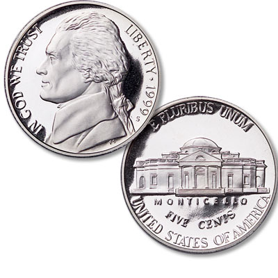 Image for 1999-S Jefferson Nickel from Littleton Coin Company