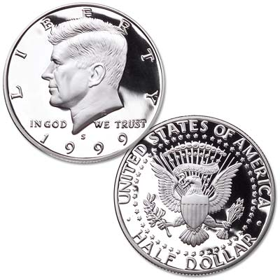 Image for 1999-S 90% Silver Kennedy Half Dollar from Littleton Coin Company