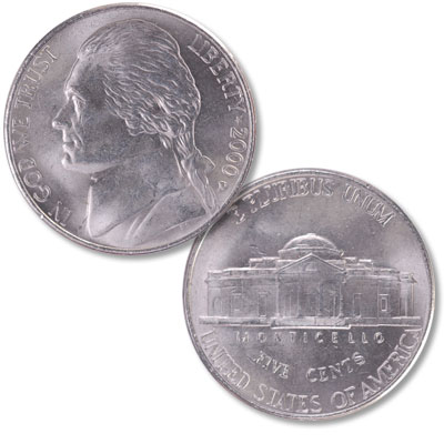 Image for 2000-D Jefferson Nickel from Littleton Coin Company
