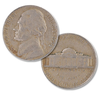 Image for 1954 Jefferson Nickel from Littleton Coin Company