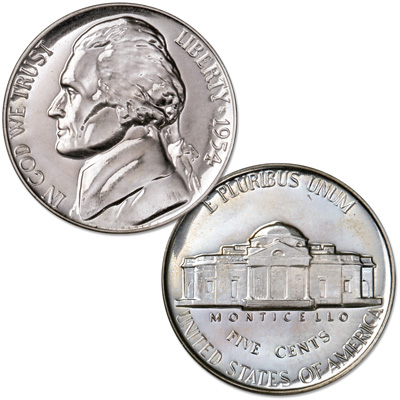 Image for 1954 Jefferson Nickel Proof from Littleton Coin Company