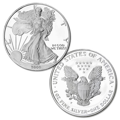 Image for 2000-P $1 Silver American Eagle, Choice Proof, PR63 from Littleton Coin Company