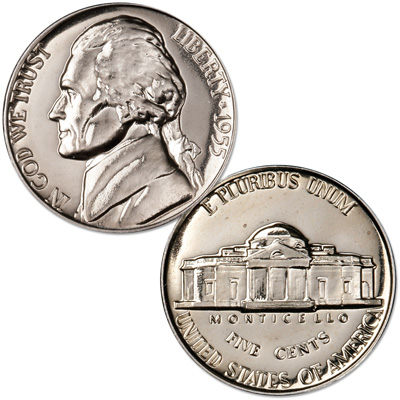 Image for 1955 Jefferson Nickel Proof from Littleton Coin Company