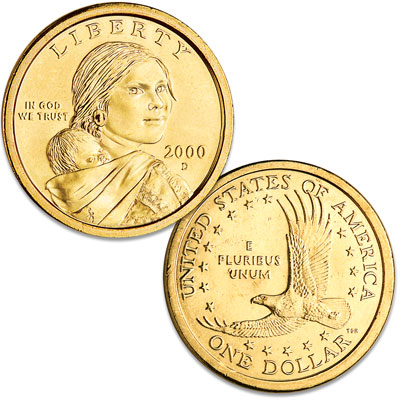 Image for 2000-D Sacagawea Dollar from Littleton Coin Company
