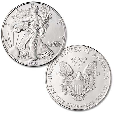Image for 2001 $1 Silver American Eagle, Uncirculated from Littleton Coin Company