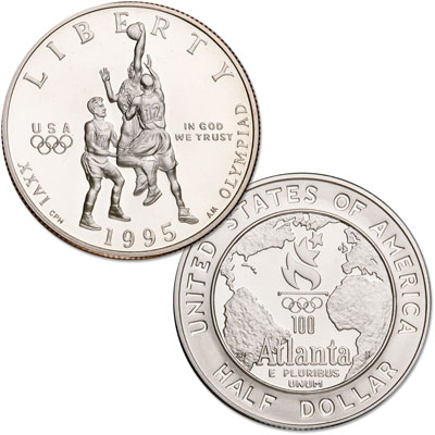 Image for 1995-S Olympic Basketball Half Dollar from Littleton Coin Company