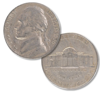 Image For 1956 D Jefferson Nickel From Littleton Coin Company