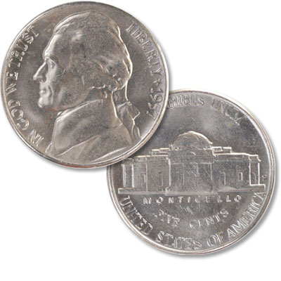 Image for 1957-D Jefferson Nickel from Littleton Coin Company
