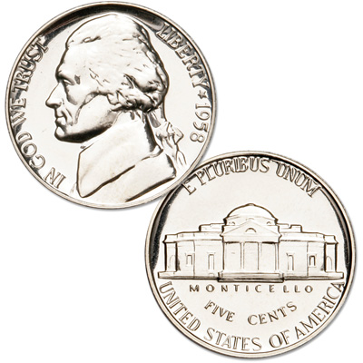 Image for 1958 Jefferson Nickel Proof from Littleton Coin Company