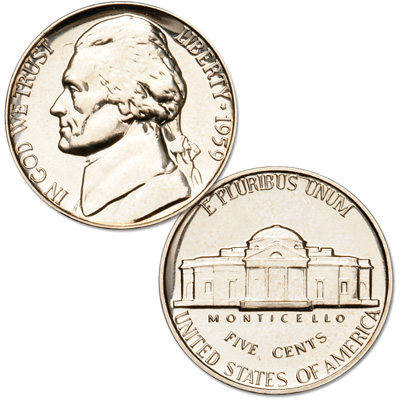 Image for 1959 Jefferson Nickel Proof from Littleton Coin Company