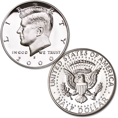 Image for 2000-S Clad Kennedy Half Dollar from Littleton Coin Company