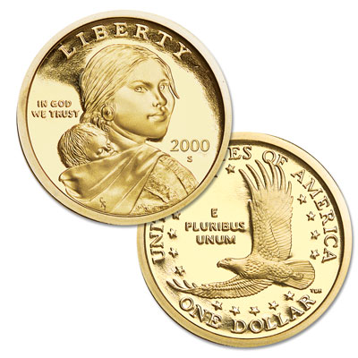 Image for 2000-S Sacagawea Dollar from Littleton Coin Company