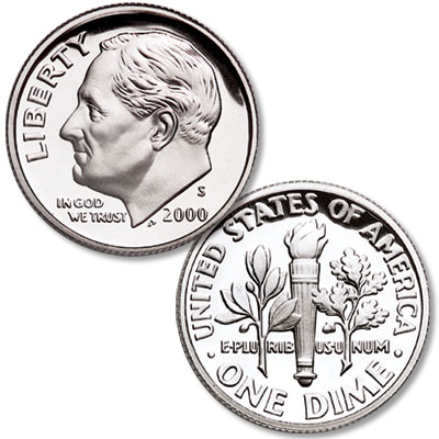 Image for 2000-S 90% Silver Roosevelt Dime from Littleton Coin Company