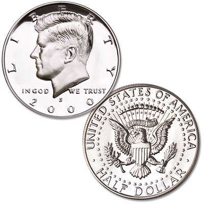 Image for 2000-S 90% Silver Kennedy Half Dollar from Littleton Coin Company
