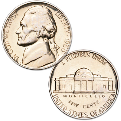 Image for 1960 Jefferson Nickel Proof from Littleton Coin Company