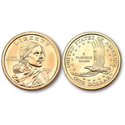 Image for 2001-P Sacagawea Dollar, Uncirculated-60 from Littleton Coin Company