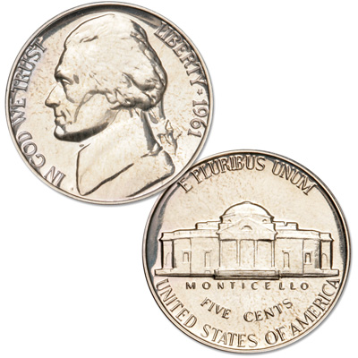 Image for 1961 Jefferson Nickel Proof from Littleton Coin Company