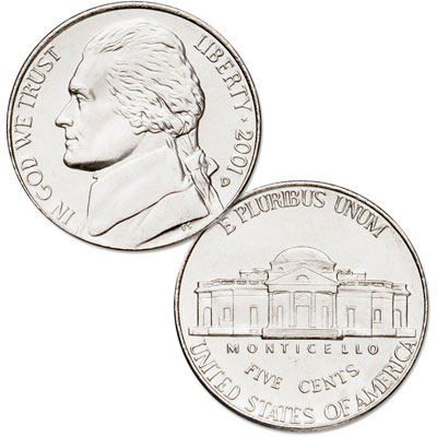 Image for 2001-D Jefferson Nickel from Littleton Coin Company