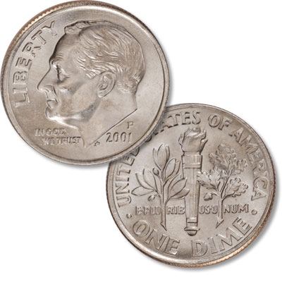 Image for 2001-P Roosevelt Dime from Littleton Coin Company